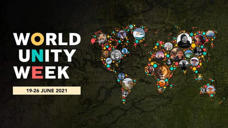 World Unity Week Wednesday, 23 June 2021 FROM 18:00 UTC+01-19:30 UTC+01